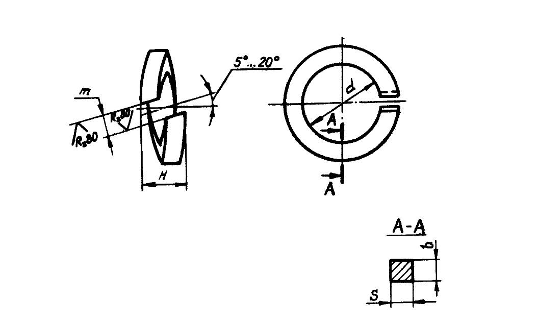 Шайба пружинная ОСТ1.11532-74