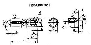 Штифт ГОСТ 12207-79 Цилиндрический с внутренней резьбой