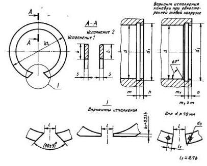 Стопорное кольцо ГОСТ 13941-86