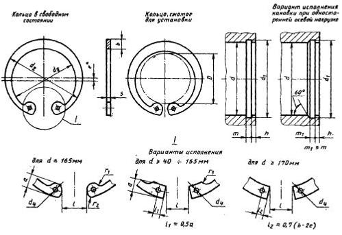 Стопорное кольцо ГОСТ 13943-86